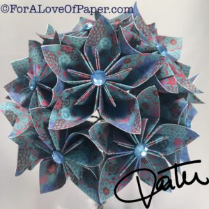 Blue reef inspired paper flowers