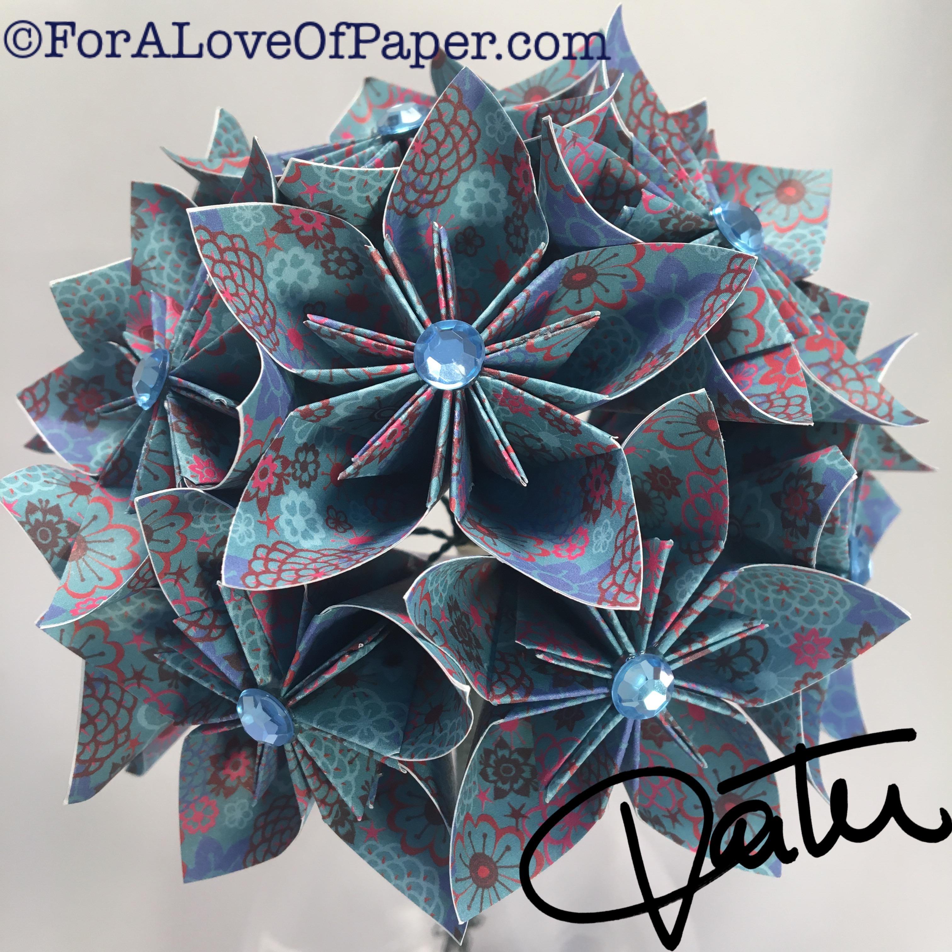 Blue reef inspired paper flowers
