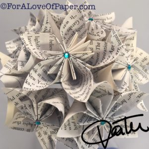 Paper flowers made from The Great Gatsby