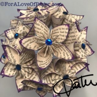 Paper flowers made from book The Notebook