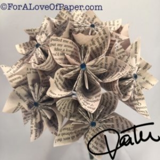 Paper flowers made from the book Outlander