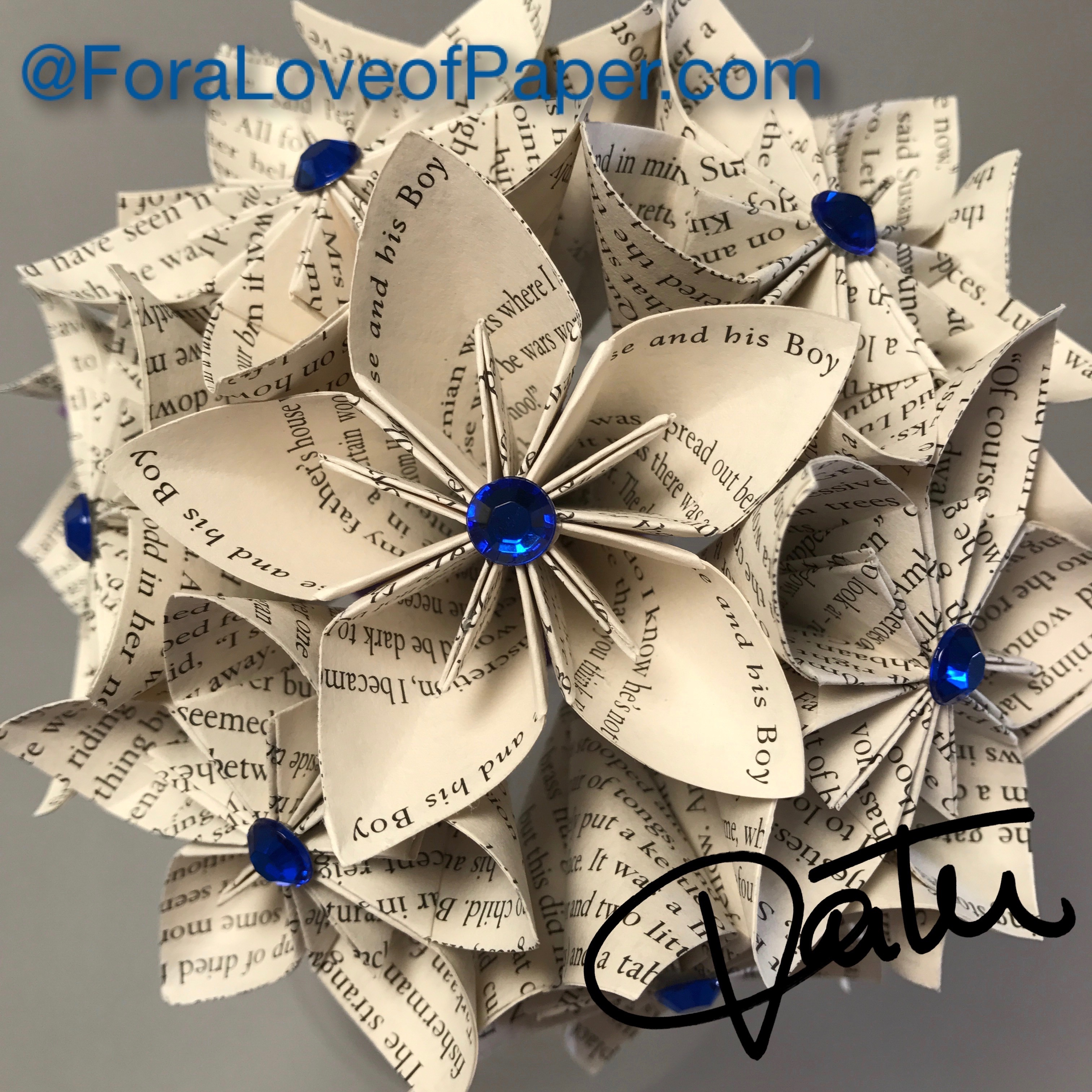 Paper flowers made from book The Horse And His Boy