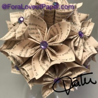 Paper flowers made from book To Kill a Mockingbird