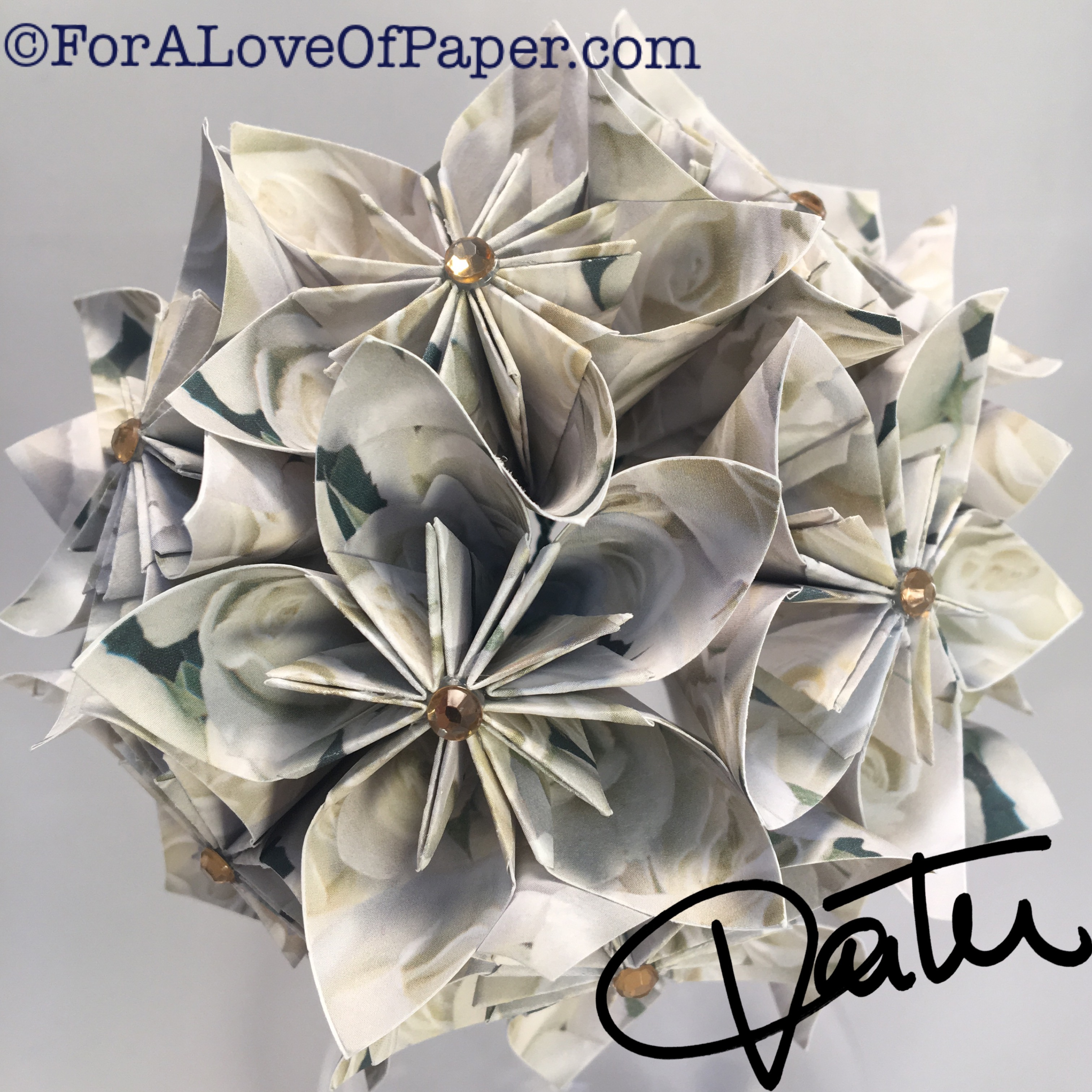 paper flowers made of white rose paper